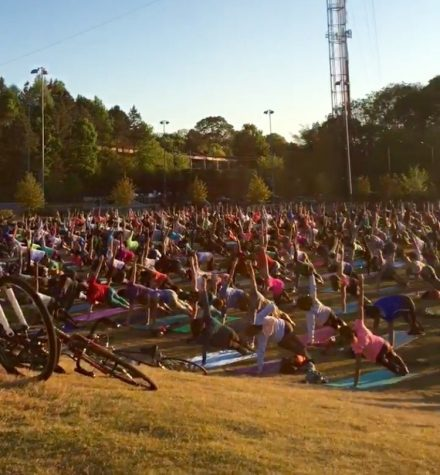 Return of King of Pops Yoga in the Park