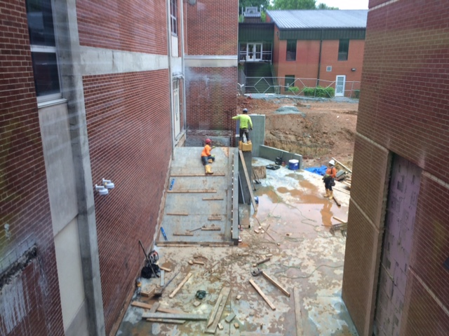 Construction brings fresh new look to century-old school