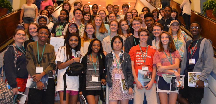 Members of the 2015-16 convergence media crew at the 2015 National Scholastic Press Association fall convention in Orlando, FL.