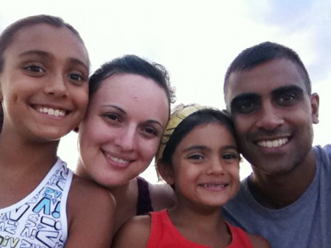 Faizal Emamaullee and his wife, Juliet Emamaullee, with daughters Grace (left) and Mira (right) atop Stone Mountain. Emamaullee and his wife met while attending the University of Alabama.