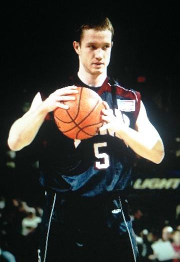 Charles Copp plays for the University of Pennsylvania Quakers against St. John's at Madison Square Garden in December 2003.