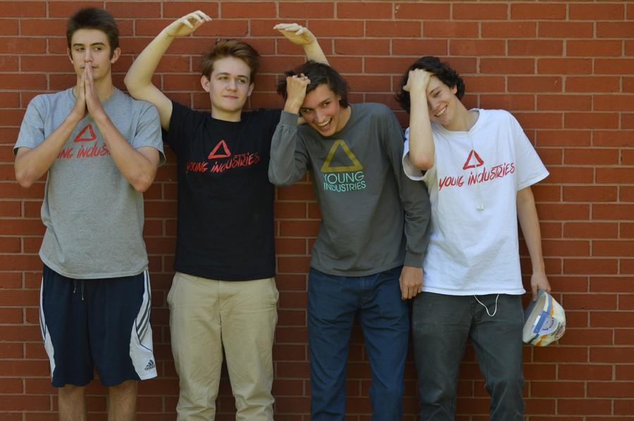 Ben Linkous-Stewart, Sam Jones, Sam Bennett and Sam Ozio (left to right) are Young Industries' co-founders. They tried to start up their company as freshmen, but it was not successful because of lack of motivation and money.