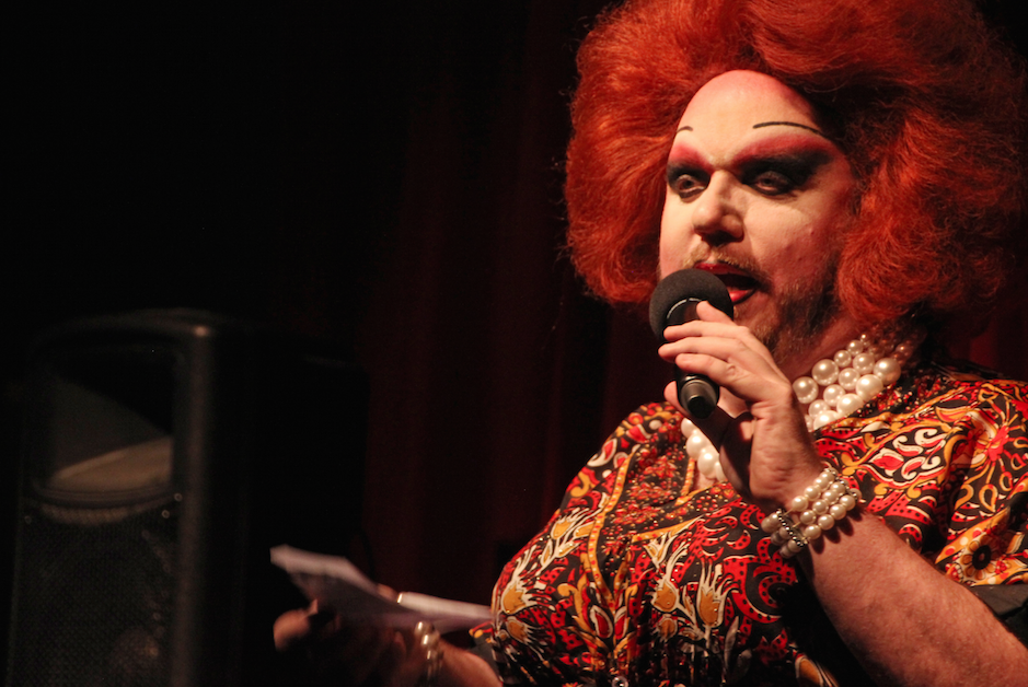 In addition to performing as Ruby Redd at the Hideaway, Matheson also manages the bar. Redd usually emcees Wednesday night drag bingo and Sunday night Armorettes shows.