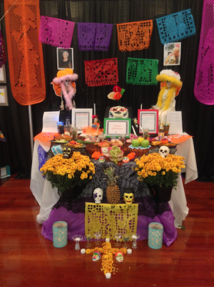 Schools around Atlanta also celebrated Dia de los Muertos by helping set up alters.