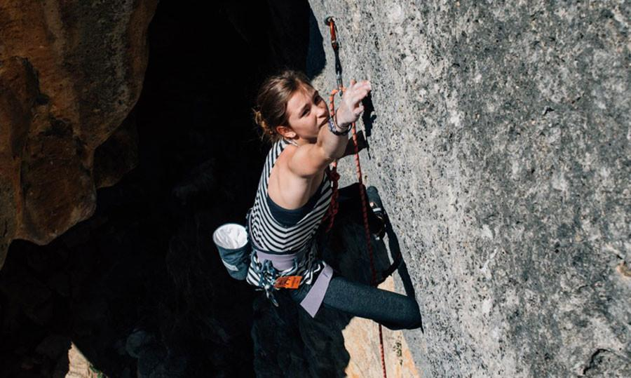 Audrey Miller is in Buoux, France with her coach and five other climbers from her team. Miller is climbing just for fun in 2015 on a Grade VII rock, which is the hardest rock to climb.