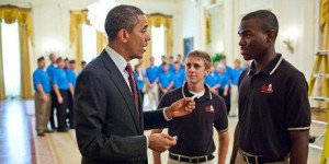 Peyton Head meets with President Barack Obama to discuss further action plans to unite Mizzou students.