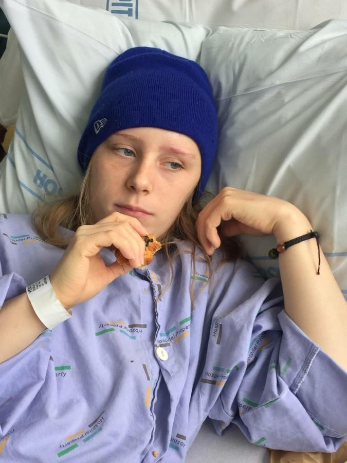 """After five days in the ICU, Jamie Dunlavy was transferred to the neurosurgical ward. There she was able to have visitors and communitcate with her supporters from around the world. """"The thing that surprised me the most was all the love I got from people who I didn't even know,"""" Jamie said. """"That was very eye opening for me."""""""