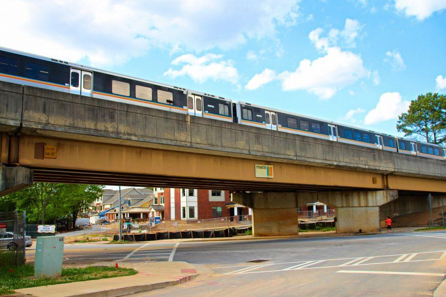 The Marta overpass above Trinity Place will be made more visually appealing by fall 2016.