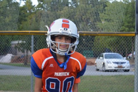 Gianna Richardson is the only girl to play football in the Gwinnett Football League