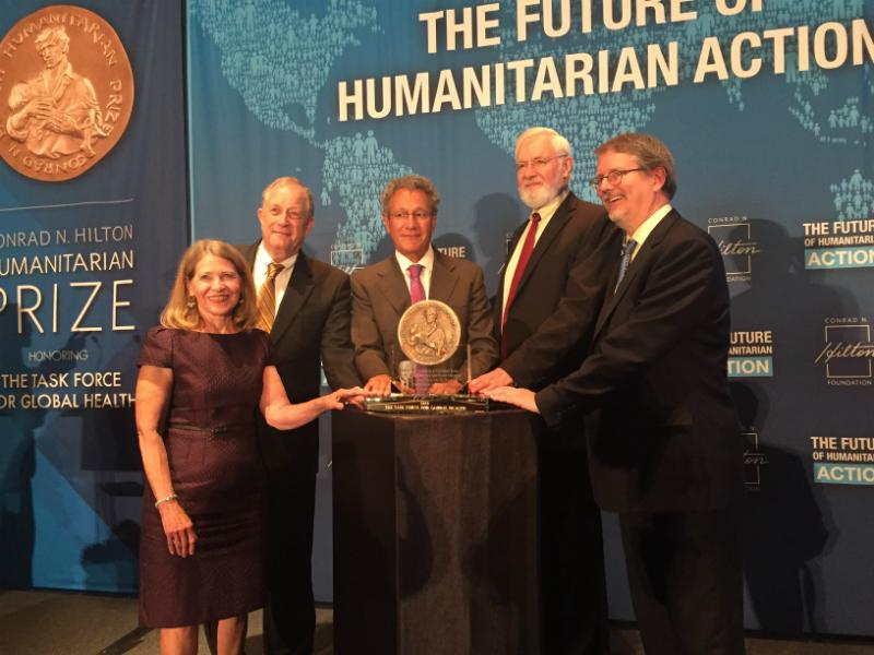 On September 3o, 2016, The Task For Global Health  received the Conrad N. Hilton Humanitarian Prize.
