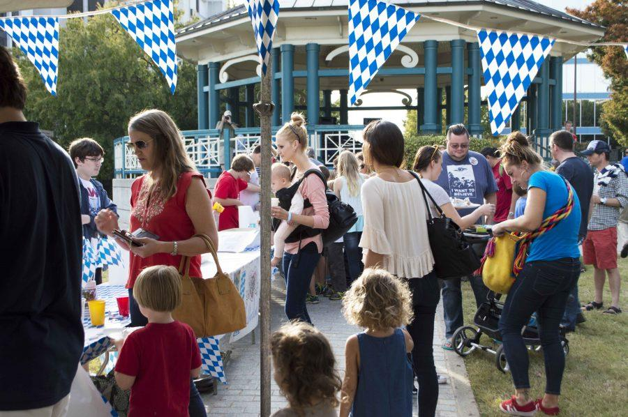 Families came out to support the German program during Kidtoberfest.