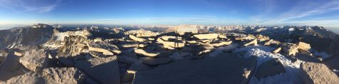 The view from Mount Whitney's peak.