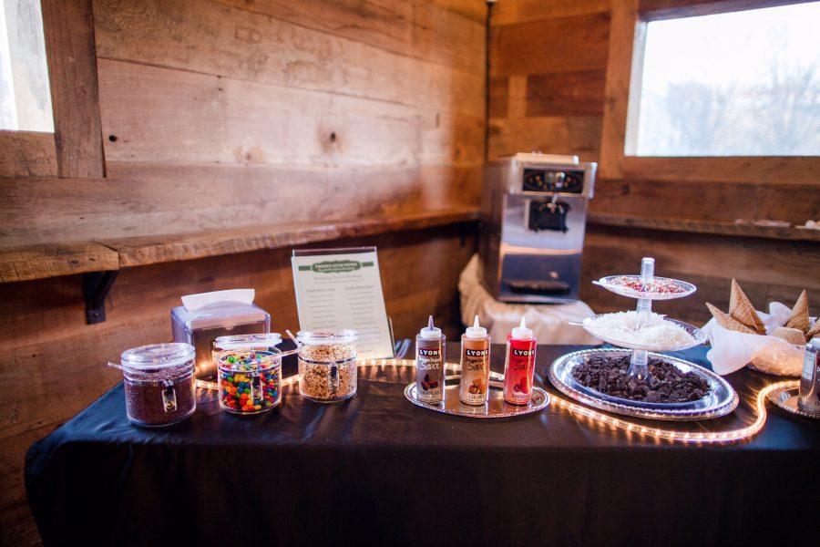 Guests sweet tooth were satisfied by a make-your-own ice cream bar was brought by Frozen Functions.