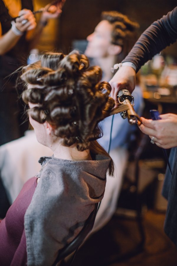 Hairstylists from Davao Hair Studio made sure the bride and bridesmaids hair looked perfect.