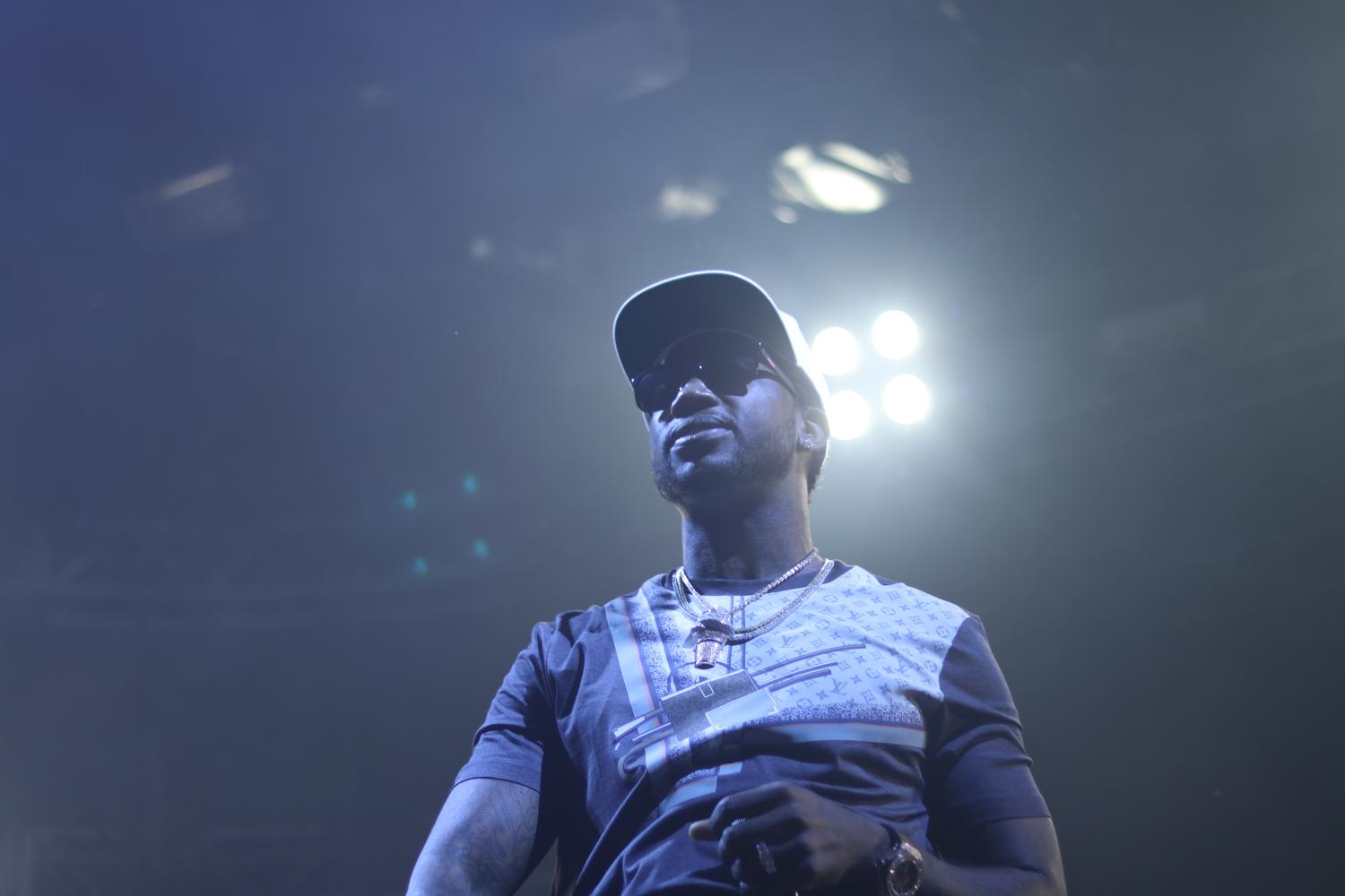 Gucci Mane performing at 515 Alive in Des Moines, Iowa.