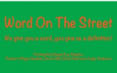 "Dec segment: ""Word on the Street"""