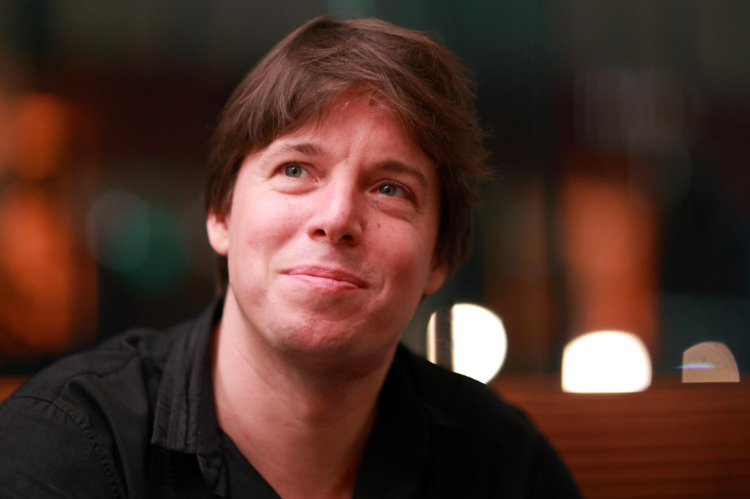 Violinist Joshua Bell after finishing a performance with the San Francisco Symphony  Orchestra