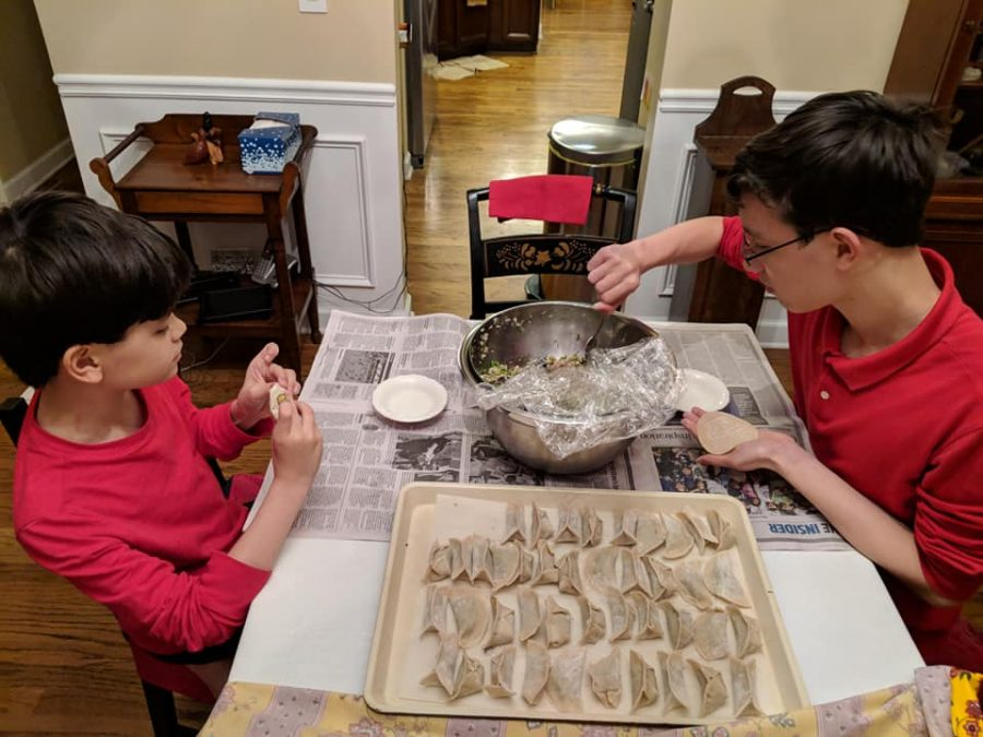 Daniel+and+his+younger+brother+preparing+dumplings.