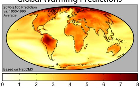 Global warming has increased in the last few decades. Photo courtesy of Creative Commons.