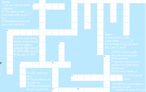 Answers to Oct. '19 Carpe Diem crossword puzzle