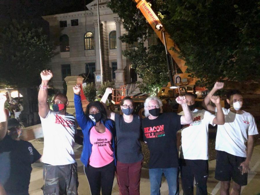 Confederate monument removed from Decatur Square