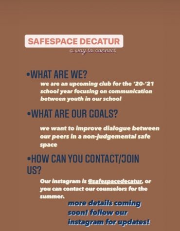 Decatur students form Safe Space Club as a way to connect