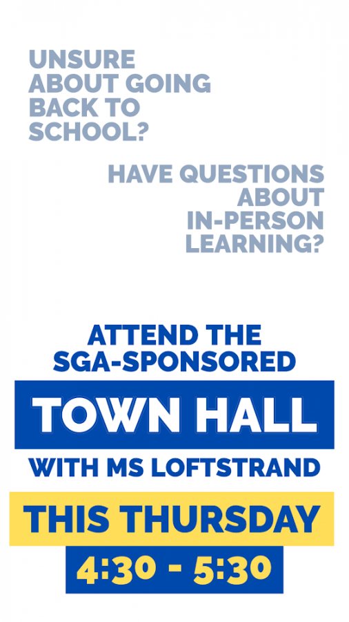 Picture created by Sophia Norton to promote town hall meeting