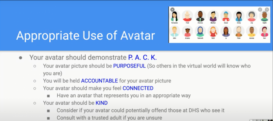 DHS Administration implements new guidelines for online avatars