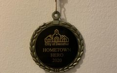 The meddle Hometown Hero's receive. The award, which was mailed to all recipients, is typically presented at an in-person ceremony every year.